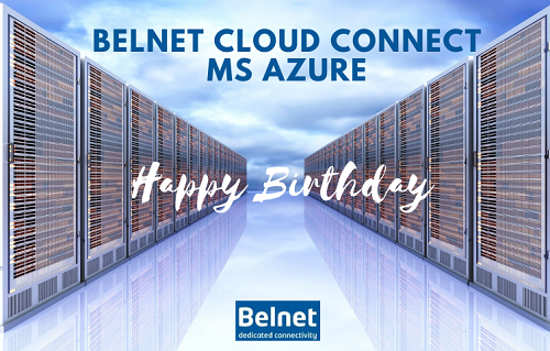 post card Happy Birthday Belnet Cloud Connect MS Azure