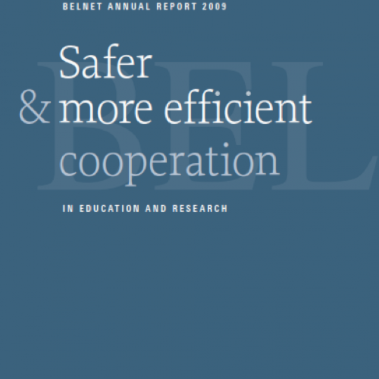 Cover of 2009 annual report on blue color background.
