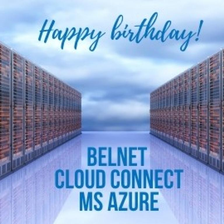 Belnet Cloud Connect MS Azure Birthday Card